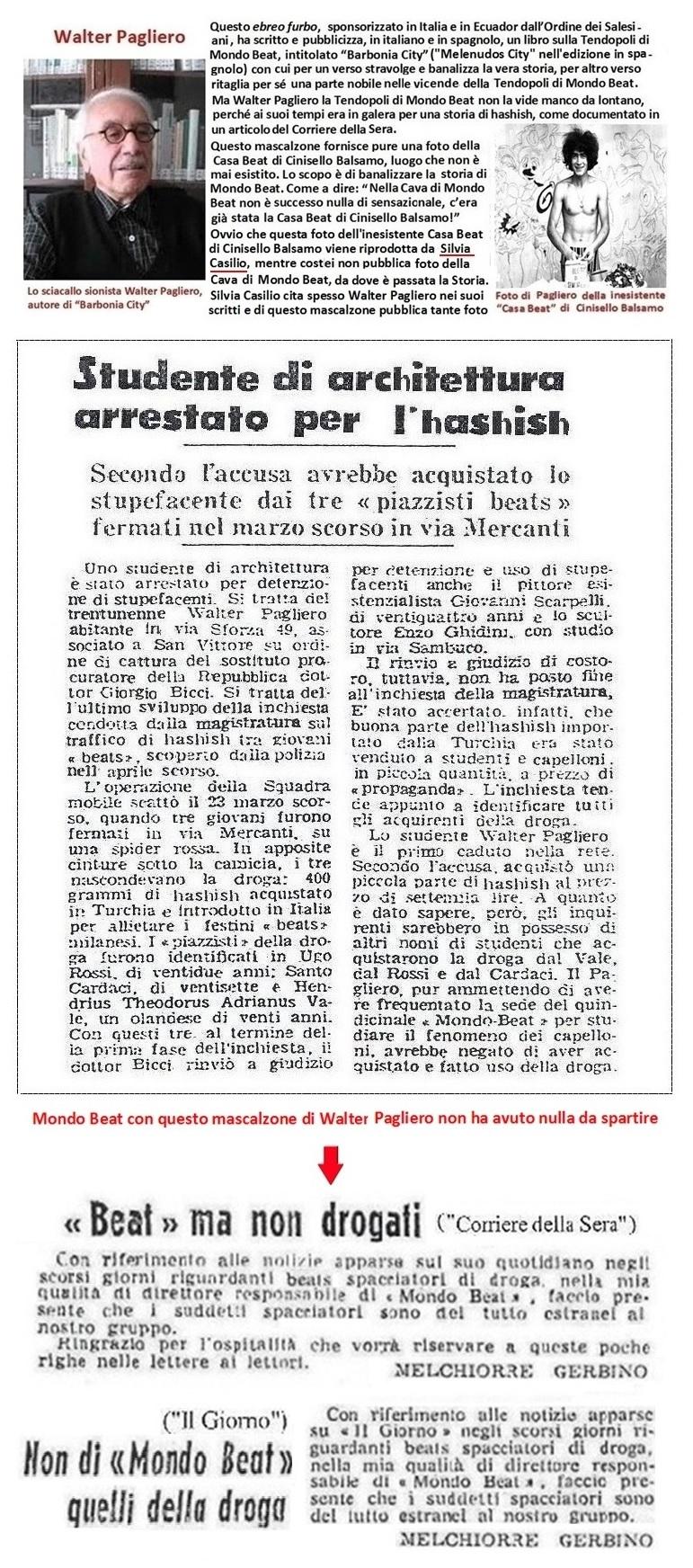 La cattolica Silvia Casilio e il sionista Walter Pagliero al servizio del Vaticano nel disperdere la memoria della storia di Mondo Beat