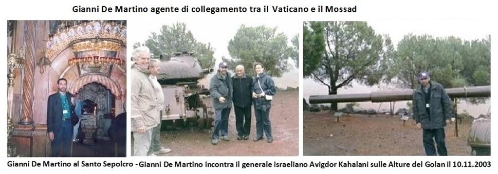 Gianni De Martino al Santo Sepolcro. Gianni De Martino incontra il generale israeliano Avigdor Kahalani sulle Alture del Golan il 10.11.2003
