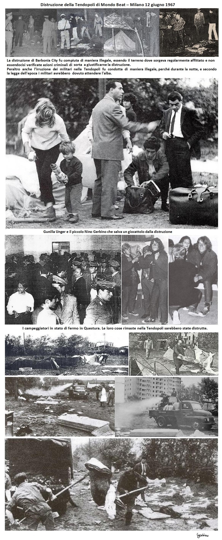 Il 12 giugno le tende furono bruciate per ordine della magistratura