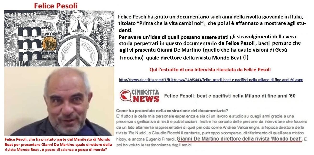 Felice Pesoli presenta Gianni De Martino quale direttore della rivista Mondo Beat