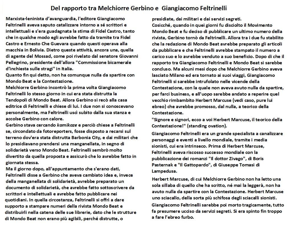 Giangiacomo Feltrinelli e Herbert Marcuse facendo business con la Contestazione