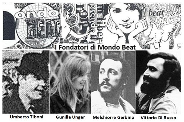 I fondatori del Movimento Mondo Beat e della rivista Mondo Beat