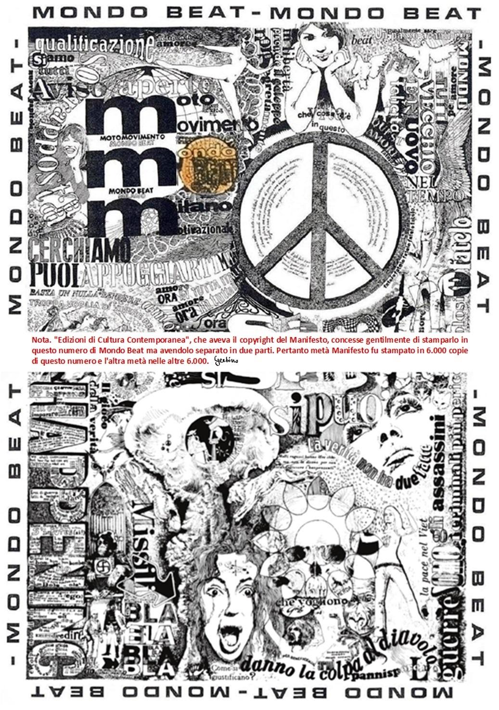 Il sesto numero della rivista Mondo Beat - Tiratura copie 12.000 - Datato 31 maggio 1967