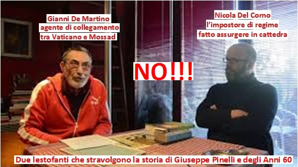 Nicola Del Corno in tresca con Gianni De Martino, agente di collegamento tra Vaticano e Mossad