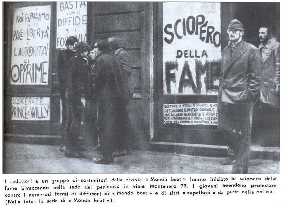 Quello di Mondo Beat fu in Italia il primo sciopero della fame di gruppo inscenato per l'affermazione dei diritti civili