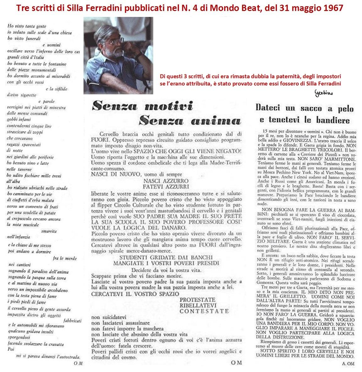 Dopo 50 anni, la verità sul contributo di Silla Ferradini alla rivista Mondo Beat