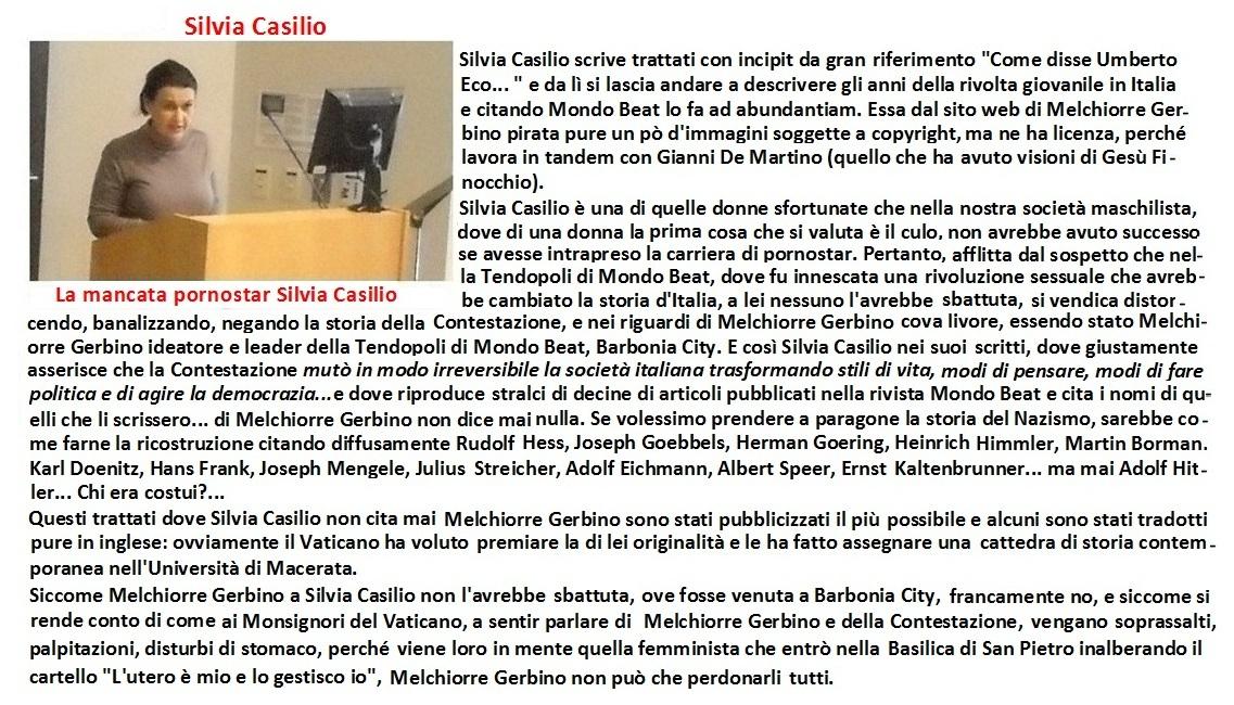 Silvia Casilio,storica originalissima che non cita mai Melchiorre Gerbino