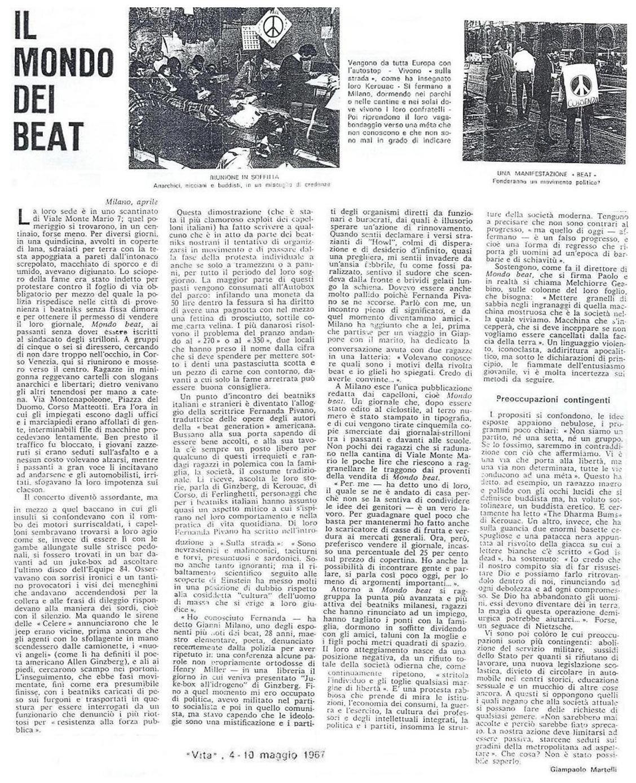 La rivista Vita era allineata con Fernanda Pivano, agente della CIA e spia della Questura di Milano