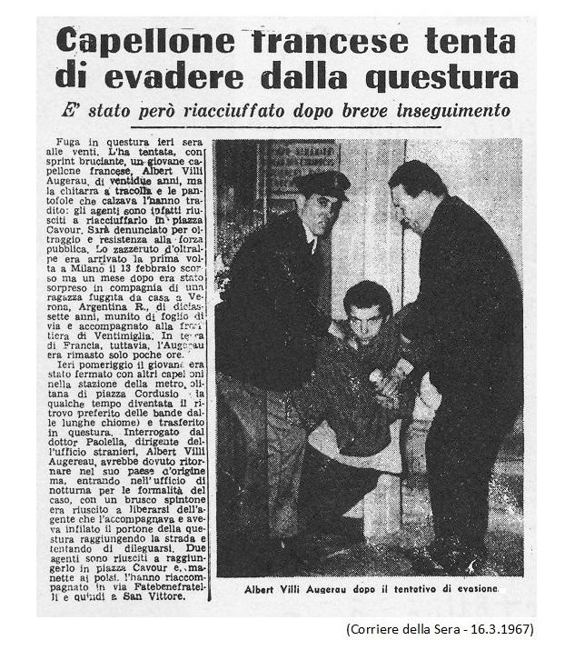Albert Villi Augerau fu uno dei giovani più carismatici a Mondo Beat