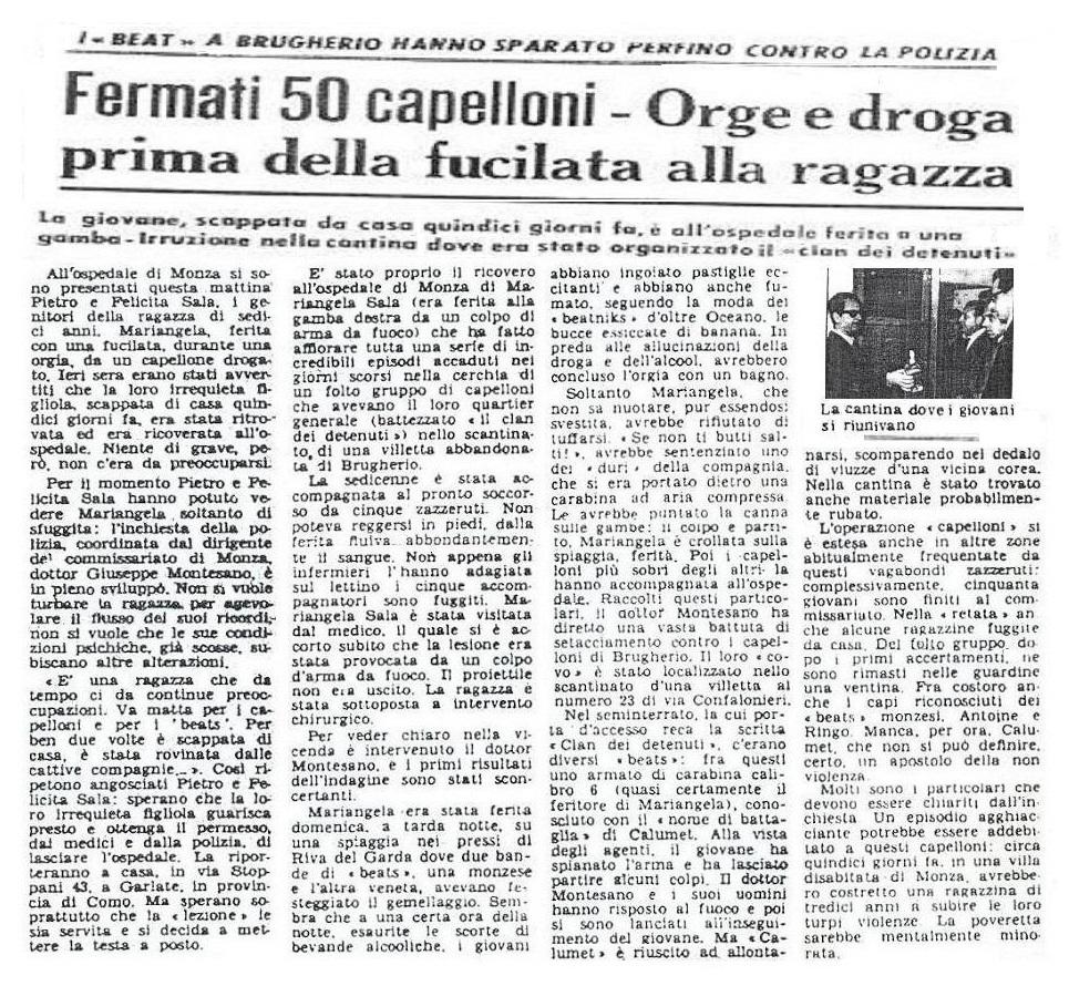 I delinquenti comuni classificati beats da Giuseppe Montesano, per potere incolpare i veri beats di crimini che non avevano commesso