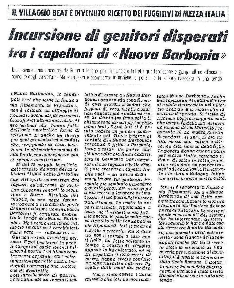 """""""La Signora Boccadoro a Bologna tra i capelloni"""" sarebbe stato un ottimo titolo per un film porno"""