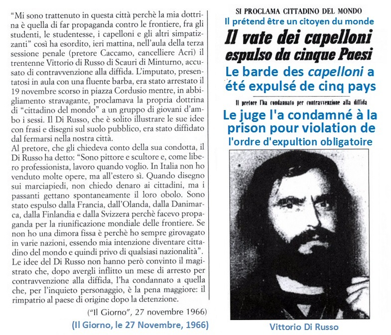 Pour Vittorio Di Russo,c'était la fin de sa participation active au Movimento Mondo Beat