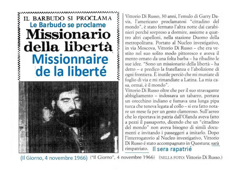 Vittorio Di Russo reçoit un ordre d'expulsion obligatoire du quartier général de la police