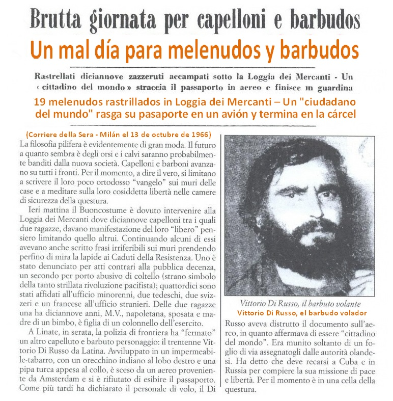 Vittorio Di Russo era un activista del Movimiento Provo en Holanda