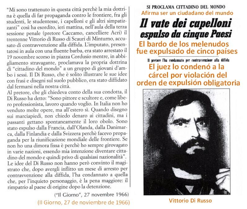 Para Vittorio Di Russo, fue el final de su  participación activa en el Movimento Mondo Beat