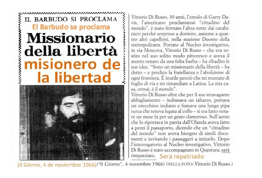 Vittorio Di Russo recibe una orden de expulsión obligatoria de la Jefatura de Policía