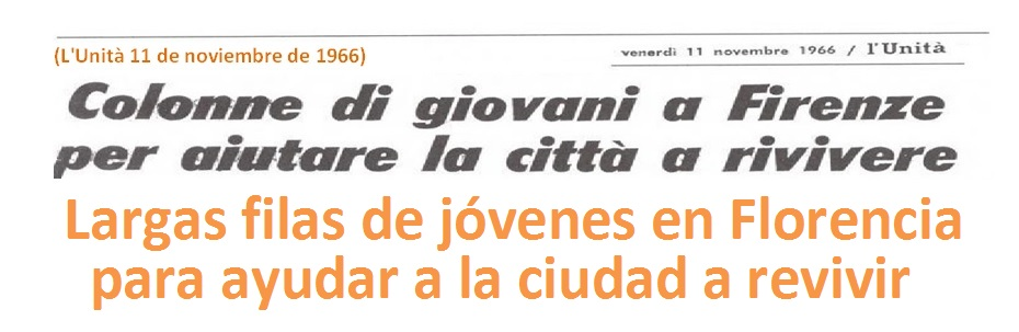 Los jóvenes de Mondo Beat fueron  los primeros en responder a salvar una herencia de arte y cultura en Florencia