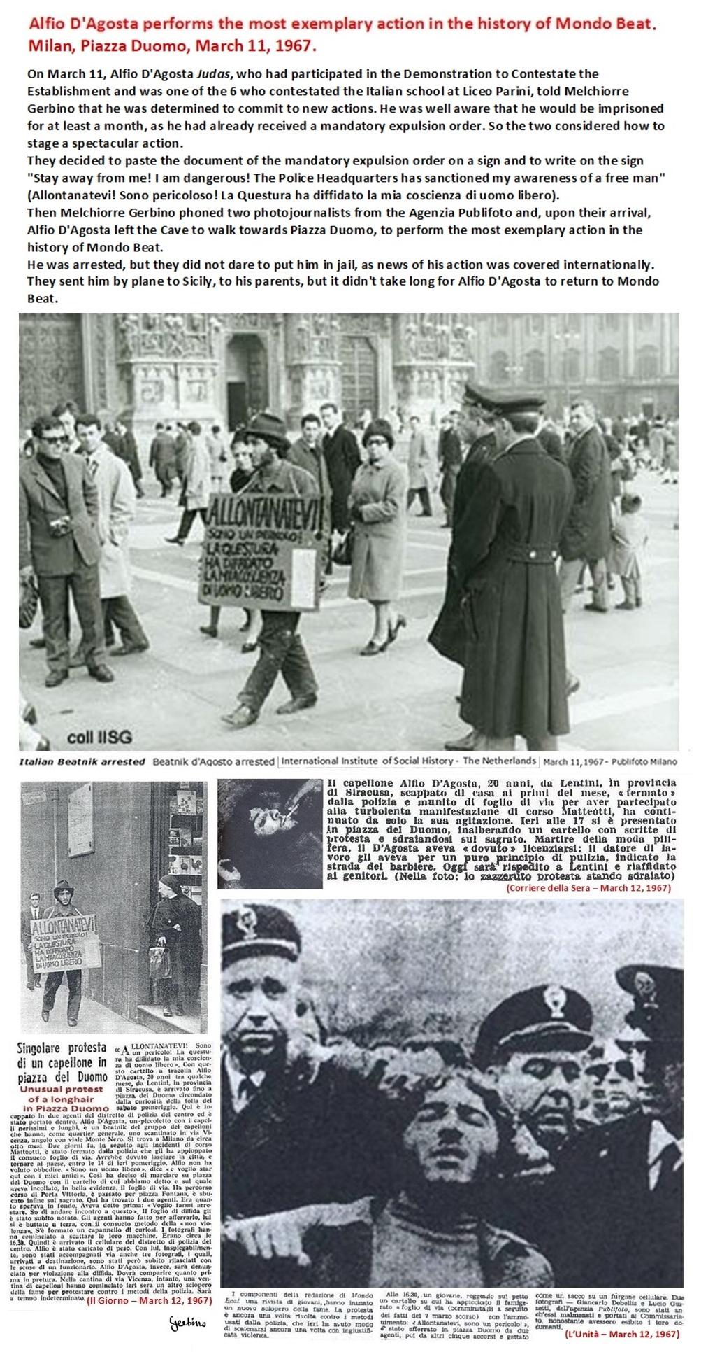 Alfio D'Agosta's contestation was covered internationally