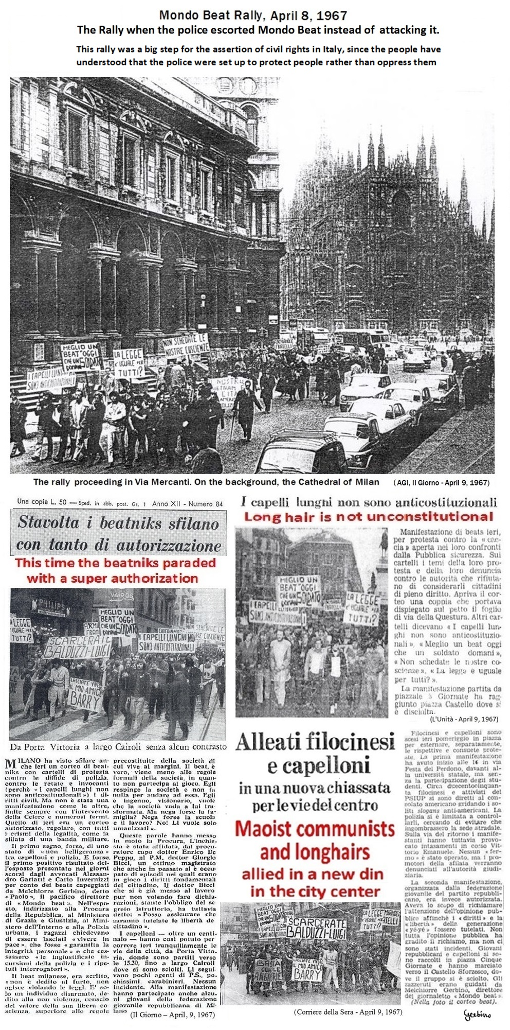 Both events, the complaint against the police headquarters and the authorized demonstration, had extensive media coverage