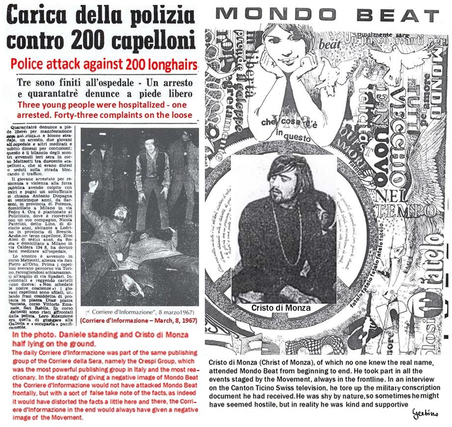 In the photo, Daniele standing; Cristo di Monza half lying on the ground