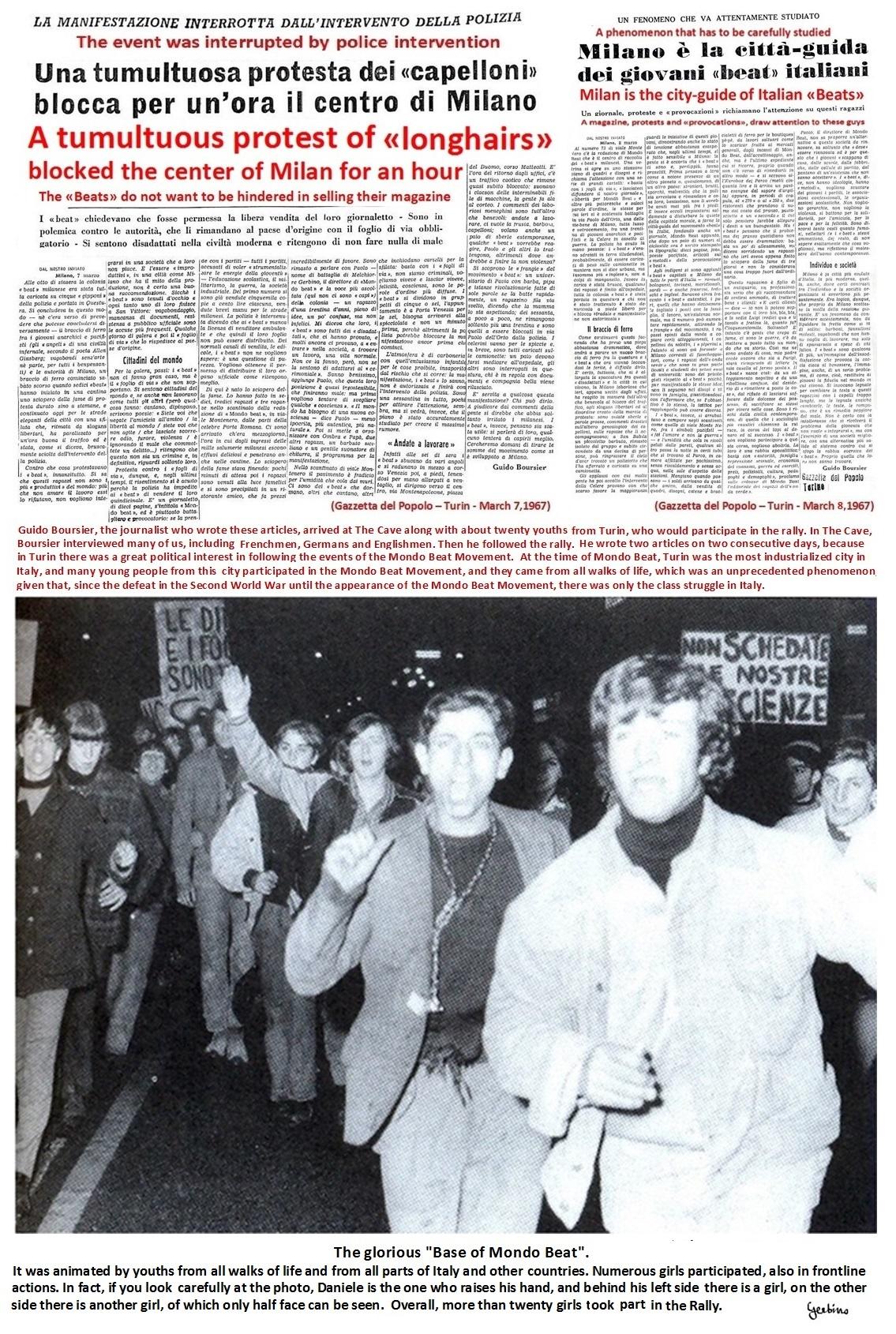 Two articles by Guido Boursier, of the Gazzetta del Popolo, Turin
