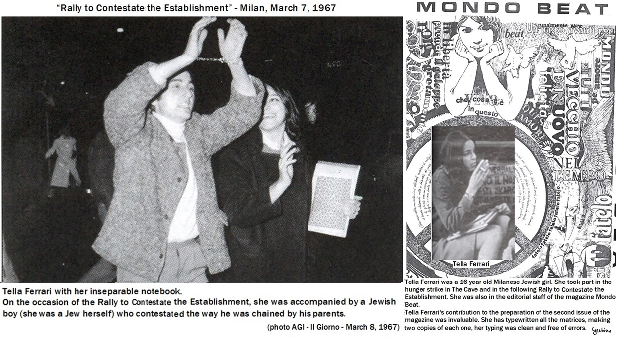 Tella Ferrari with her inseparable notebook during the Rally to Contestate the Establishment