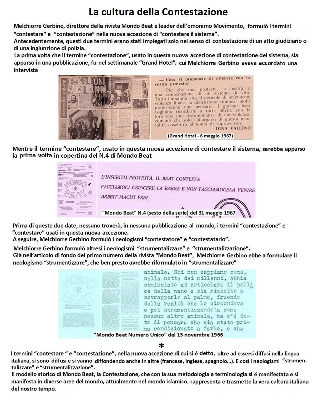 Melchiorre Gerbino formulò i modelli della Contestazione