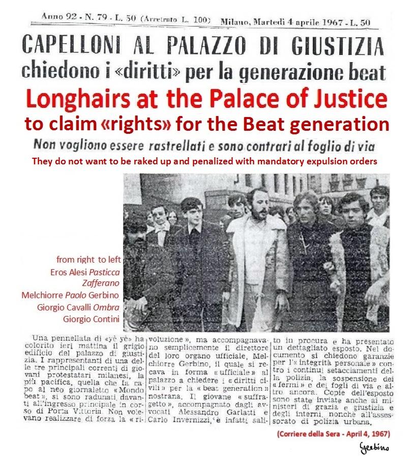 In the photo, the first in the left is Giorgio Contini, then Giorgio Cavalli 'Ombra', Melchiorre Gerbino, Zafferano, Eros Alesi