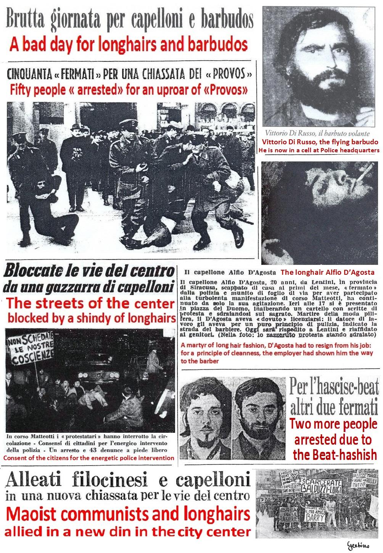 Corriere della Sera wanted to convince the public of the negativity of the Mondo Beat Movement