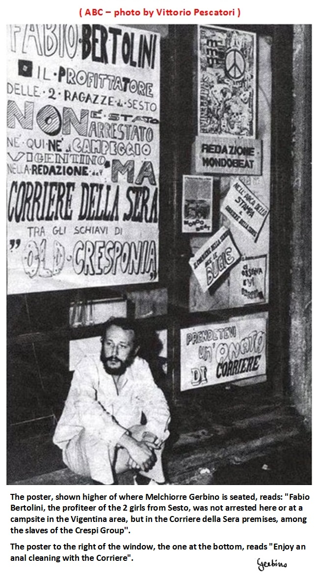 Mondo Beat's counterattack against the Corriere della Sera concerning the Bertolini affair