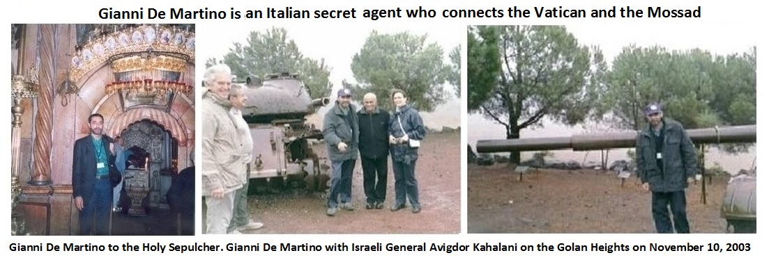 Gianni De Martino is an Italian secret agent who connects the Vatican and the Mossad