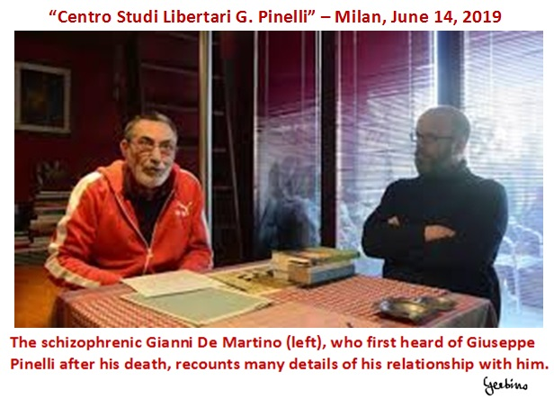 The schizophrenic Gianni De Martino, deliberately exposed by the Vatican to the wrath of the anarchists