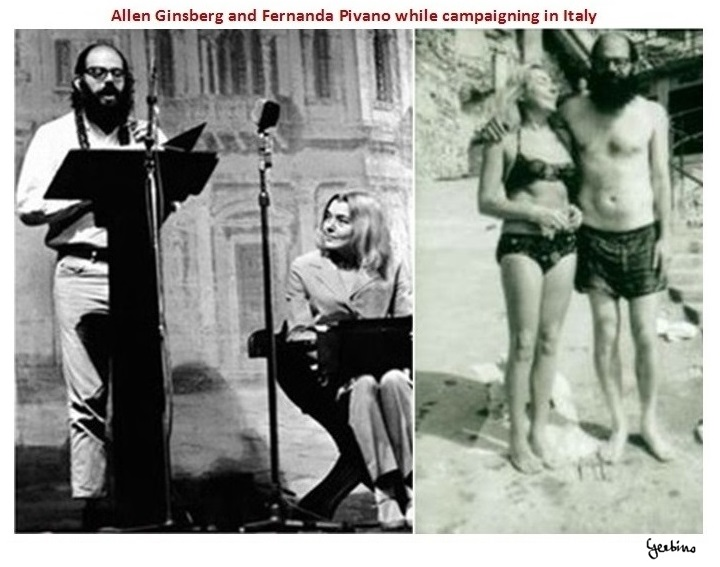 Allen Ginsberg and Fernanda Pivano