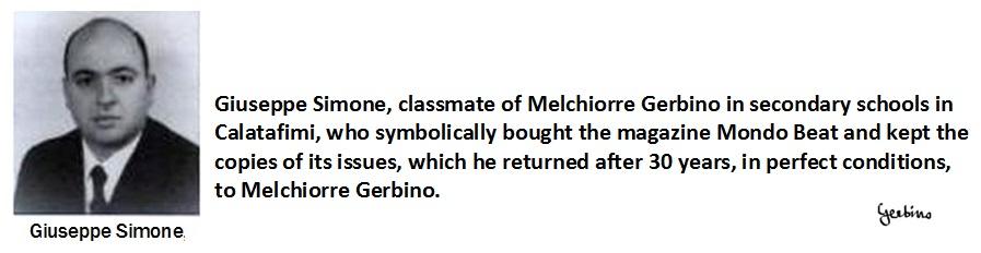 Giuseppe Simone, a classmate of Melchiorre Gerbino in secondary schools in Callatafimi