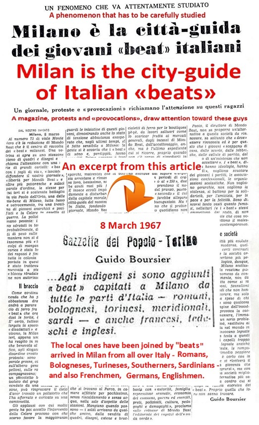 Journalist Guido Boursier, Gazzetta del Popolo, Turin, on the participation of French, German, English youths in the Rally to Contestate the Establishment