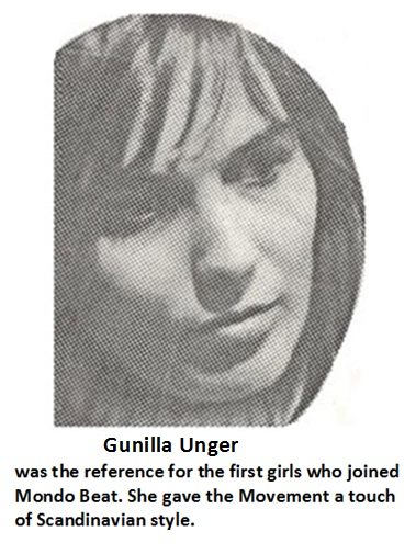 Gunilla Unger, the first reference to girls who joined Mondo Baeat