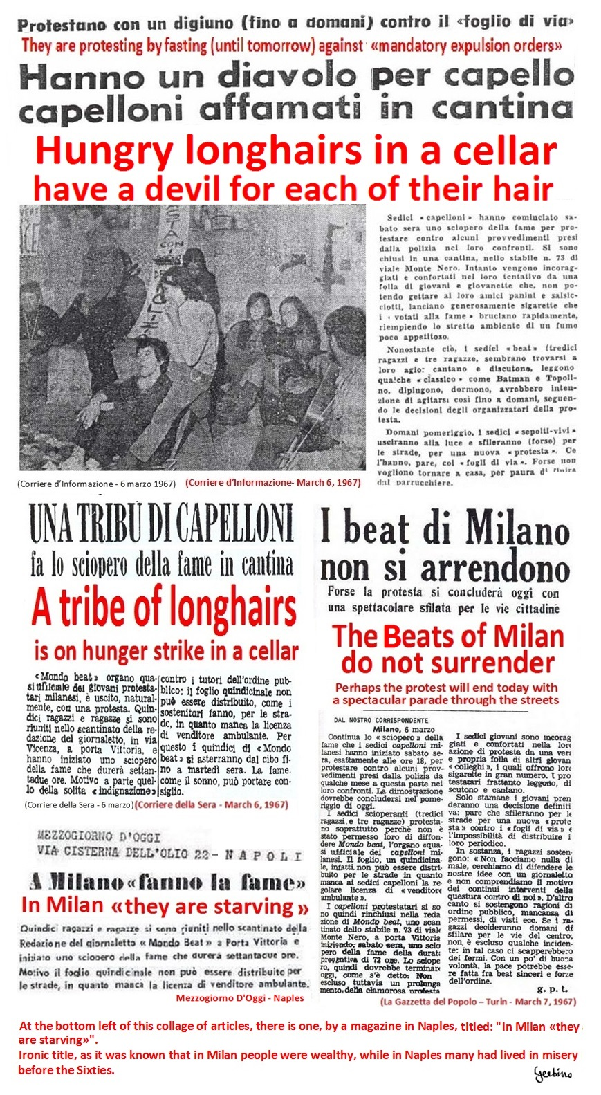 Articles of various newspapers on Mondo Beat's hunger strike (2)