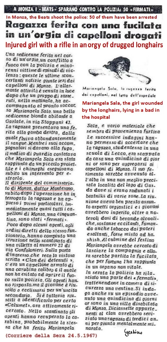 Corriere della Sera against the Beats on May 24, 1967