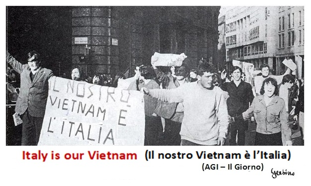 This slogan was against distractions from the commitment to assert civil rights in Italy