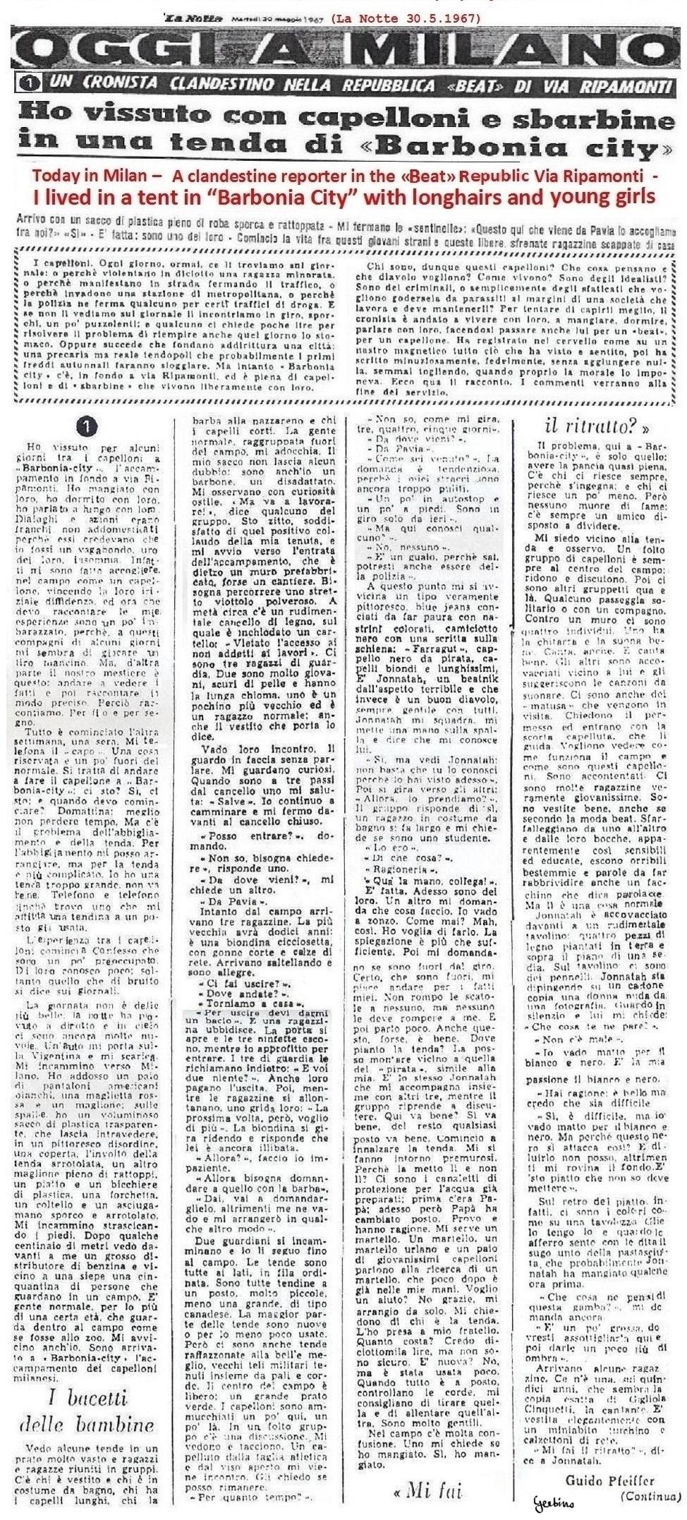 La Notte May 30,1967