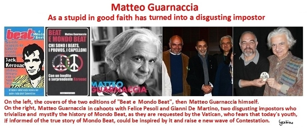Matteo Guarnaccia treating the history of Mondo Beat shows an approach of stupidity mixed with malice