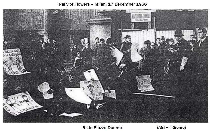 The Rally of Flowers was planned and led by Giuseppe Pinelli