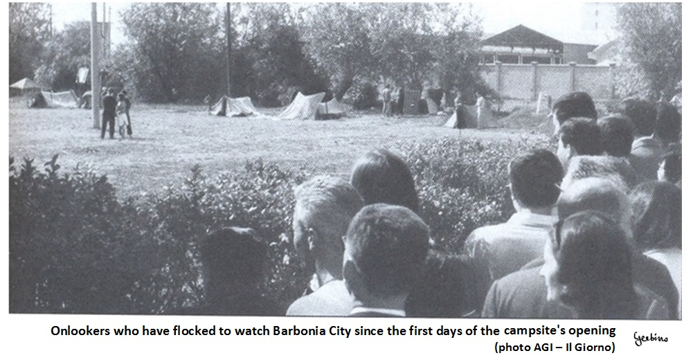 These onlookers came from far away, since Barbonia City was located in the fields and there was no dense population around it