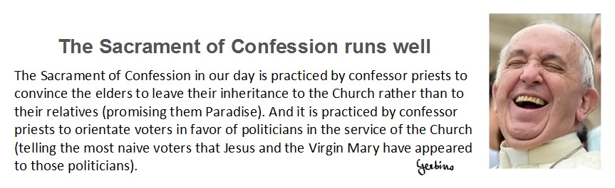 The Sacrament of Confession in unconstitutional in countries where the Catholic religion doesn't constitute state religion