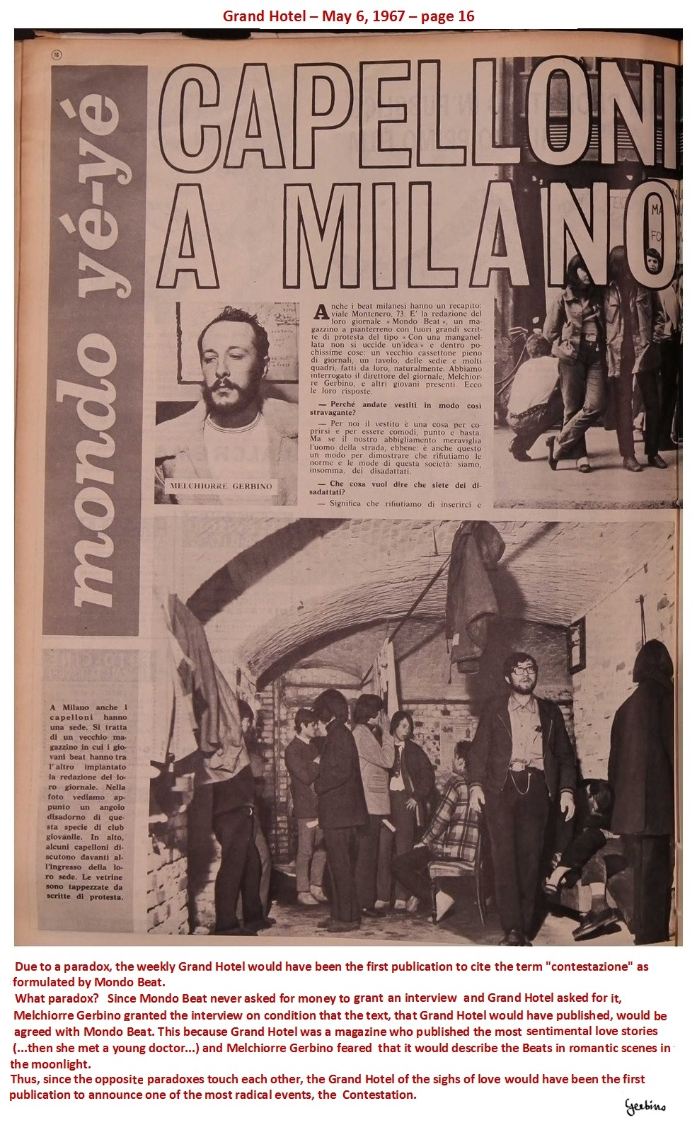 This article appeared on May 6, 1967 (1)