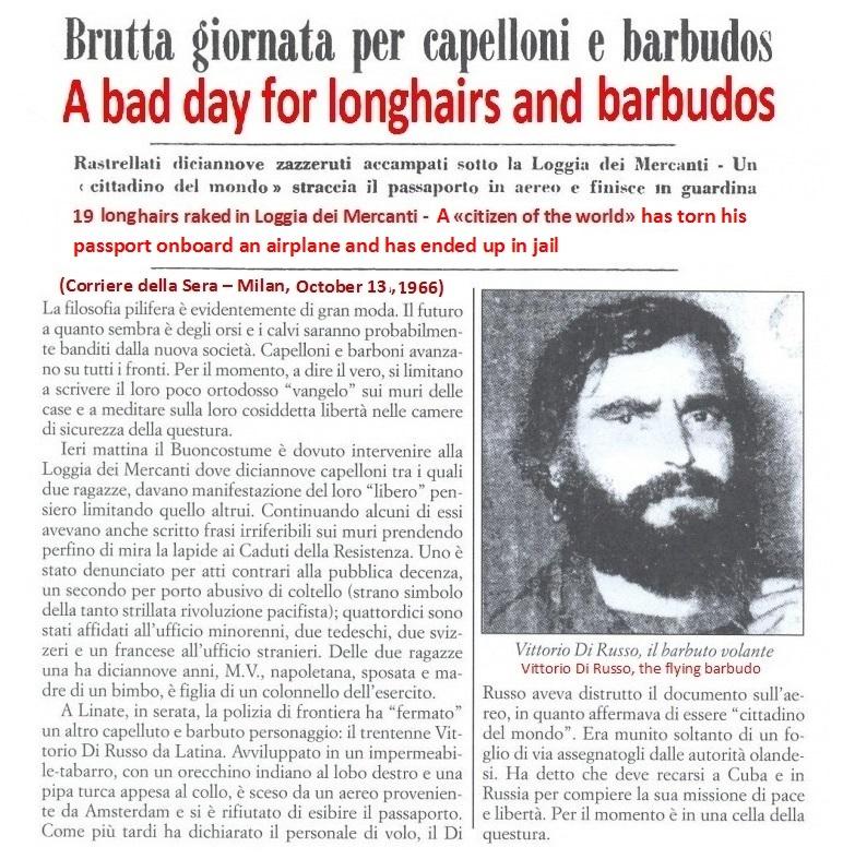 Vittorio Di Russo was an activist in the Provo Movement in Amsterdam
