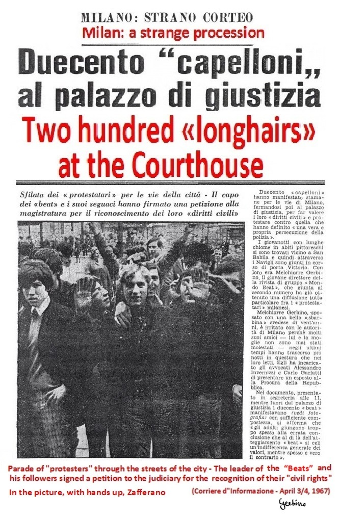In the photo, with hands up, Zafferano