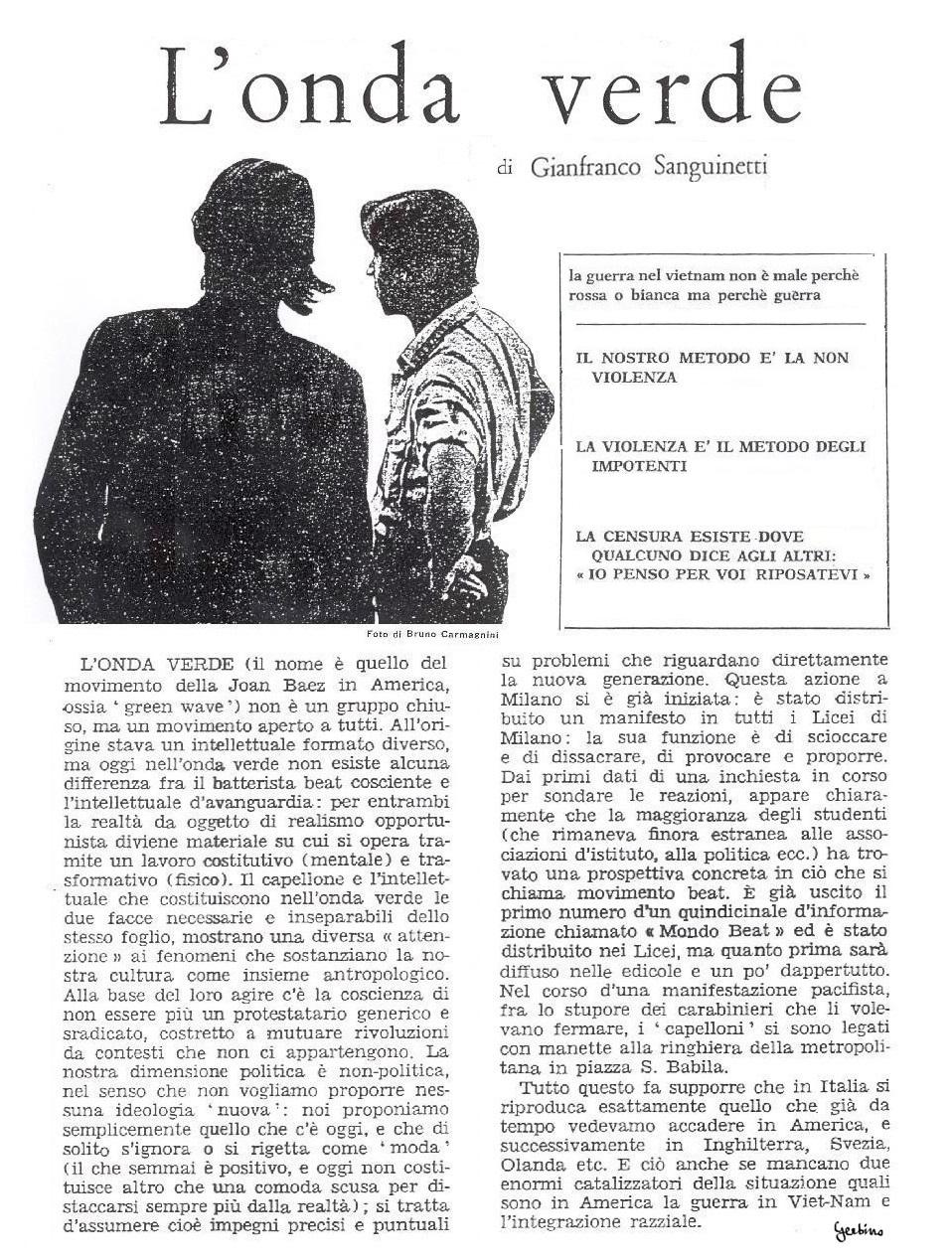 Gianfranco Sanguinetti sarebbe diventato un esponente di spicco dell'Internazionale Situazionista