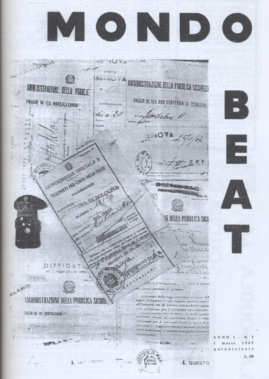 La copertina del terzo numero di Mondo Beat segna il momento in cui i giovani del Movimento mutarono da contestati in contestatori