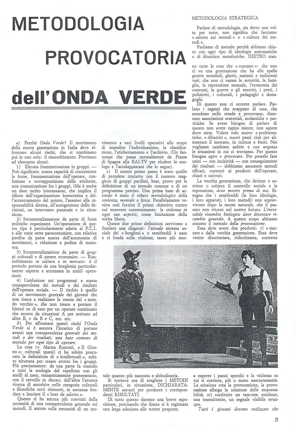 The third issue of Mondo Beat magazine - Edition 4,000 copies - Milan, March 1, 1967